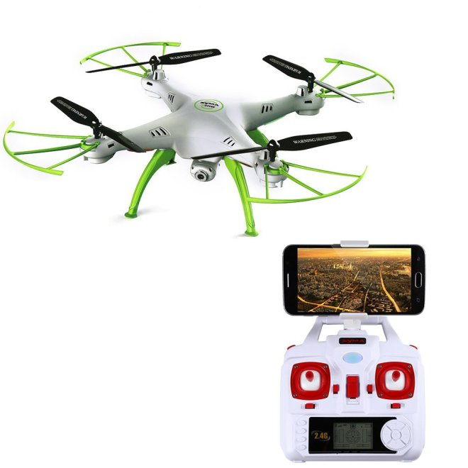 Syma Drone X5HW + WIFI FPV Kamera HD 2 MP + Altitude hold  - Putih