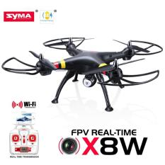 Syma X8W WiFi Real Time 2.4G 4ch 6 Axis 2MP Wide Angle FPV Big Quadcopter with 720P Video camera RTF - Putih