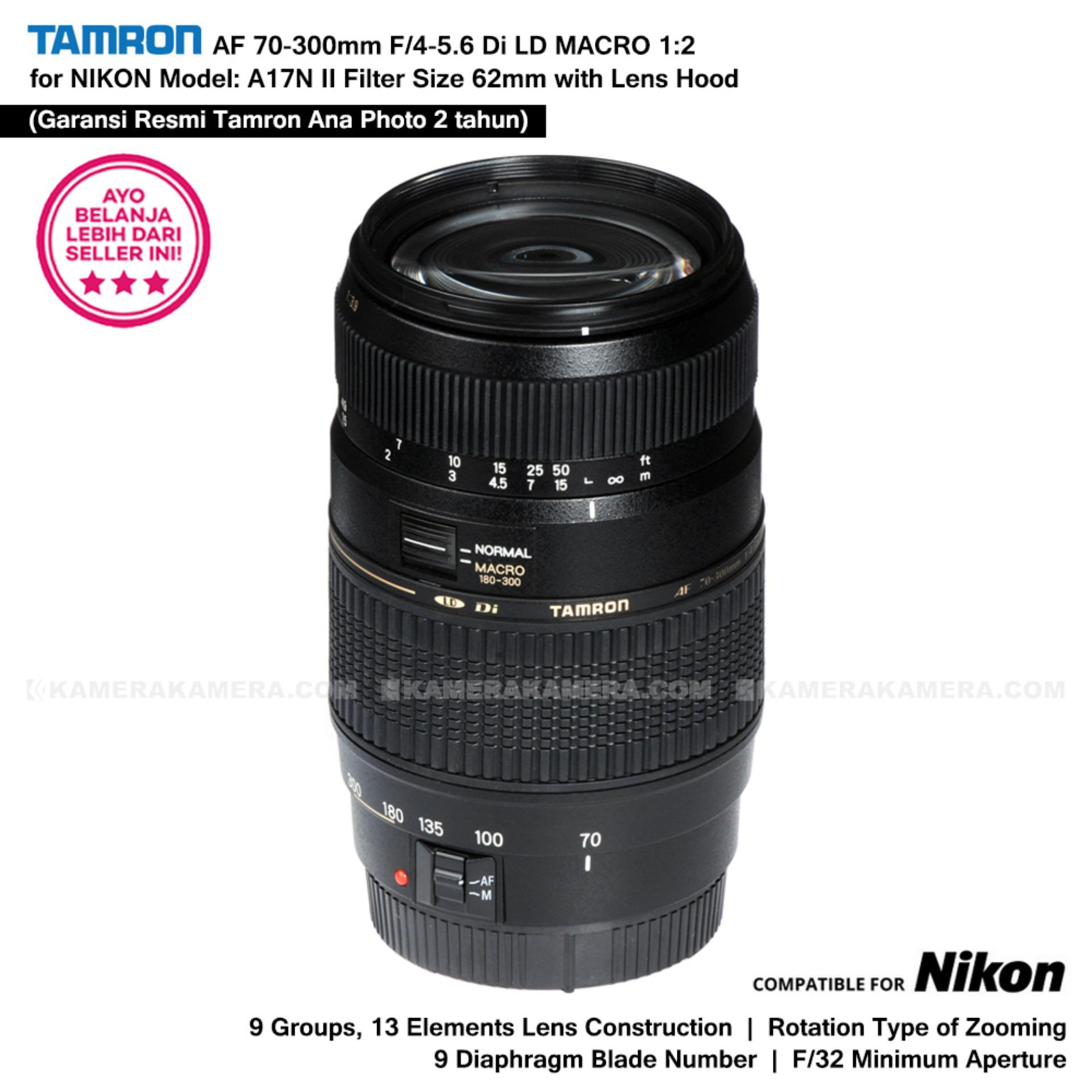 Referensi Harga Lensa Nikon Af 70 300mm F 4 56g Oktober 2018 S 58mm 14g Garansi Resmi Tamron 56 Di Ld Macro 12 Model A17n Ii Built In Motor For D With Lens Hood Ana Photo 2 Tahun