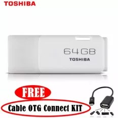 TOSHIBA Flashdisk 64GB - PUTIH + Free Cable OTG Connect KIT   TOSHIBA Flashdisk 64GB - PUTIH + Free Cable OTG Connect KIT