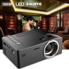 Ulamore 1080 P HD LED Home Multimedia Center Cinema USB TV VGA SD HDMI Mini Proyektor BK-Intl