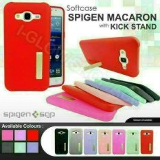 Unik Softcase Spigen Macaron Oppo Neo 7 / A33 With Kick Stand Limited