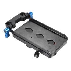 V Tipe Piring dengan 15 Mm Tongkat Penjepit E6 Adaptor untuk Sony V-mount untuk Canon 5D2 5D3 60D 7D 6D DSLR Rig untuk BMCC BMPC-Internasional