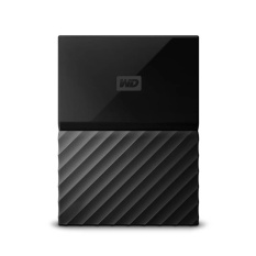 HDD/ hdd/ hardisk/ hd/ hard drive Harddisk eksternal / external WD My Passport New Design 4TB/2.5Inch/USB3.0 - Hitam + Free Pouch
