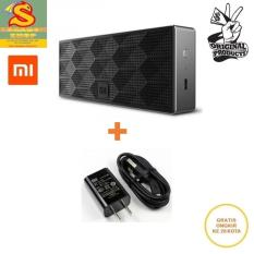 Xiaomi Speaker Bluetooth Portable Cube Bass Stereo With Charger 5V-2A Micro USB Kabel - Black