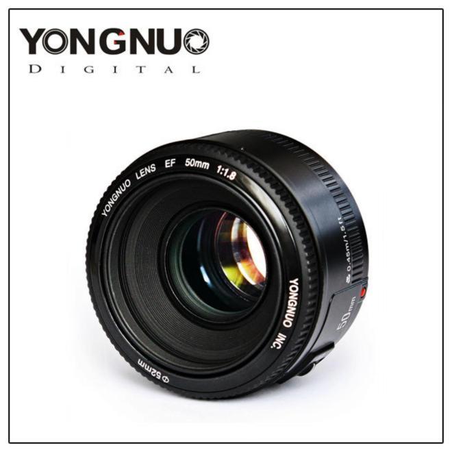 YONGNUO YN50mm F1.8 Lensa Bukaan Besar Otomatis Mounting untuk Kamera CANON EF EOS