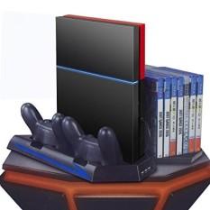 Yttl PS4 Vertical Penyangga Pendinginan Penggemar, Pengisi Daya DualShock, Ganda Pengendali Pengisian Station, 14 Slot Permainan Penyimpanan dan 3 Port USB HUB PlayStation 4 Console PS4-Internasional