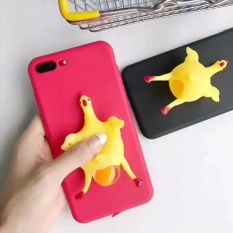ZMASI Lucu 3D Chubby Ayam Case untuk IPhone 7 6 6 S Plus Marshmallow Ayam Petelur Soft TPU Gel Back Case Funda Cover-Intl