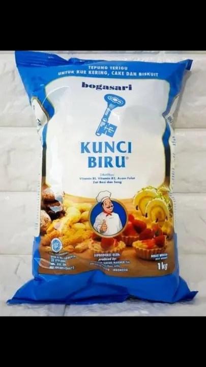 Tepung Kunci Biru : tepung, kunci, Tepung, Terigu, Kunci, Bogasari/Arrindhamiss, Lazada, Indonesia
