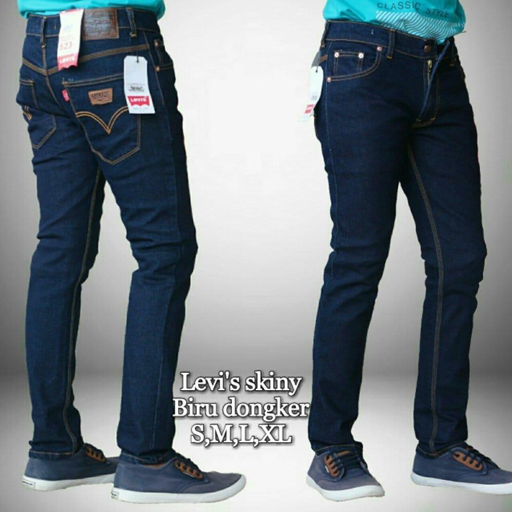 Celana Jeans Garment Pria Slime Fit / Fashion Pria / Jeans Biru Pria
