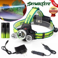 10000 Lumen Headlamp CREE XM-L 3 x T6 LED Headlight 18650 Light Charger Battery - intl