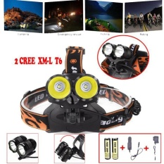 10000Lm 2x T6 LED Rechargeable 18650 Headlamp Headlight Kepala Obor + Charger-Intl