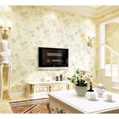 3D Wallpaper Kamar Tidur Ruang Tamu TV Latar Belakang Dinding Gaya Eropa Pedesaan Floral DIY Dinding Seni Dekorasi Rumah Ramah Lingkungan Relief Non -woven Wall Stick Kertas-Intl