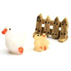 3 Pcs Set Ornamen Taman Patung Miniatur Resin Kerajinan Pot Tanaman Dekorasi Peri Bebek