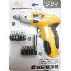 AIUEO Cordless Electric Screwdriver Am-tech 3.6V Mesin Bor Obeng Elektrik - Yellow