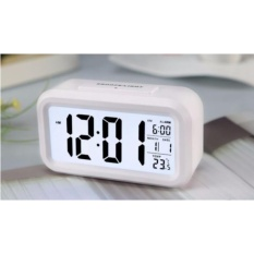 ANGEL Smart Digital LCD/LED Alarm Clock Temperature Calendar Auto Night Sensor Clock - White