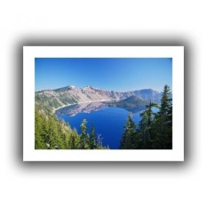 Art Wall Crater Lake Flat Unwrapped Canvas Art by Dan Wilson, 16 by 22-Inch - intl