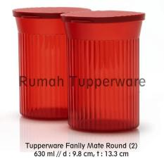Baru - Tupperware Family Mate Round Red (2Pcs Toples Kecil) - Fourtyshops