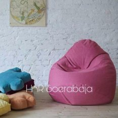 Bean bag kursi santai Pear Pandora - Pink (Cover Only) / kursi pantai / furniture