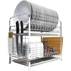 BEST-EWTR Keluarga Pipa Multifungsi Baja Anti Karat Pengeringan Menguras Piring Rak Ditarik Sayuran Filter Air Baske Dapur Penyimpanan-Intl