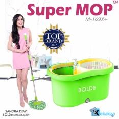 Bolde Super Mop Alat Pel Lantai Otomatis 169 Plus Botol Sabun dan Extra 1 Refill - Hijau