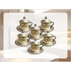 Cangkir Set Vicenza Original CRY85 - Cup & Saucers with Cover CRY85
