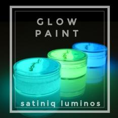 Cat Fosfor Lukis  Cat Acrylic  Glow Paint   Cat Fosfor Water Based  Cat glow Satiniq Luminos
