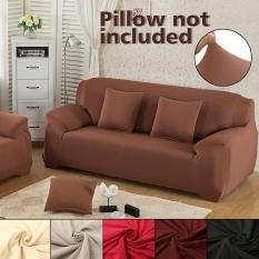 Elastis Kain Sofa Cover L Shape Stretch Pet Dog Sectional/Sudut Sofa Cover-Intl