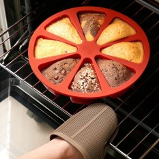Family Silicone Waffle Mold Maker Pan Microwave Baking Cookie Cake Muffin Bakeware Cooking Tools Kitchen Accessories Supplies - intl