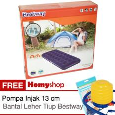 Kasur Angin / Kasur Tiup Bestway Single / Twin / Double / Queen / King Seri 67000 / 67001 / 67002 / 67003 / 67004 Berkualitas Free Pompa injak Bestway dan Bantal Leher Tiup