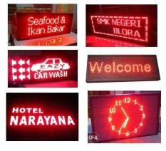 LED Runningtext 100X20 / Running Text / Movingsign Red Limited