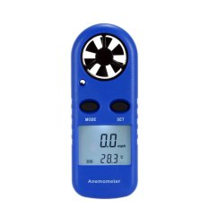 Multifungsi LCD Mini Anemometer Speed Air Velocity Suhu Pengukuran