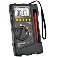 Multimeter Avometer Digital Multitester + Kabel Tester Sanwa CD800A