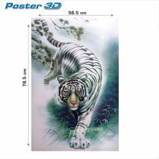 Poster 3D Jumbo+: Harimau Putih #3DJ+015 - 78.5 x 58.5 cm