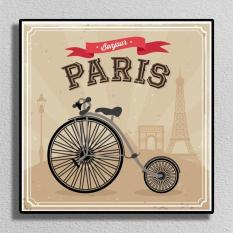 Poster Photo Canvas Bonjour Paris - 30x30cm