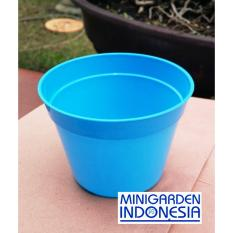 Pot Bunga 10 cm Pot Semai Bonsai Bibit Bisa Hidroponik Pilih Warna Isi 3 Pcs