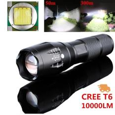 Kuat 10000LM CREE T6 LAMPU LED 5 Mode Zoomable Obor Tahan Air Outdoor Olahraga Berkemah & Hiking-Intl