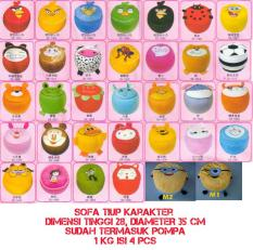 Sofa / Kursi Tiup / Pompa / Balon / Angin Karakter Unyu Angry Bird- Hello Kitty Doraemon Pooh Bebek Strawberry Mickey Mouse Sapi