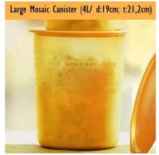 Tupperware Large Moscan gold/toples kue