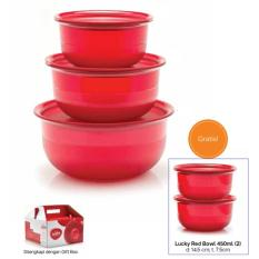 Tupperware Lucky Red Bowl set (5pcs)