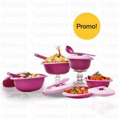 Tupperware Purple Daisy Set