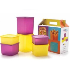 Tupperware Summer fun Ungu-Kuning 6pcs/set