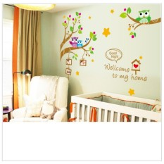 Wall Sticker XY1159 Welcome To My Home - Stiker dinding Untuk Dekorasi Kamar Anak Wall Sticker Anak -  Sticker Dinding Murah Penghias Dinding Rumah Wallpaper Dinding Lucu - Warna Random