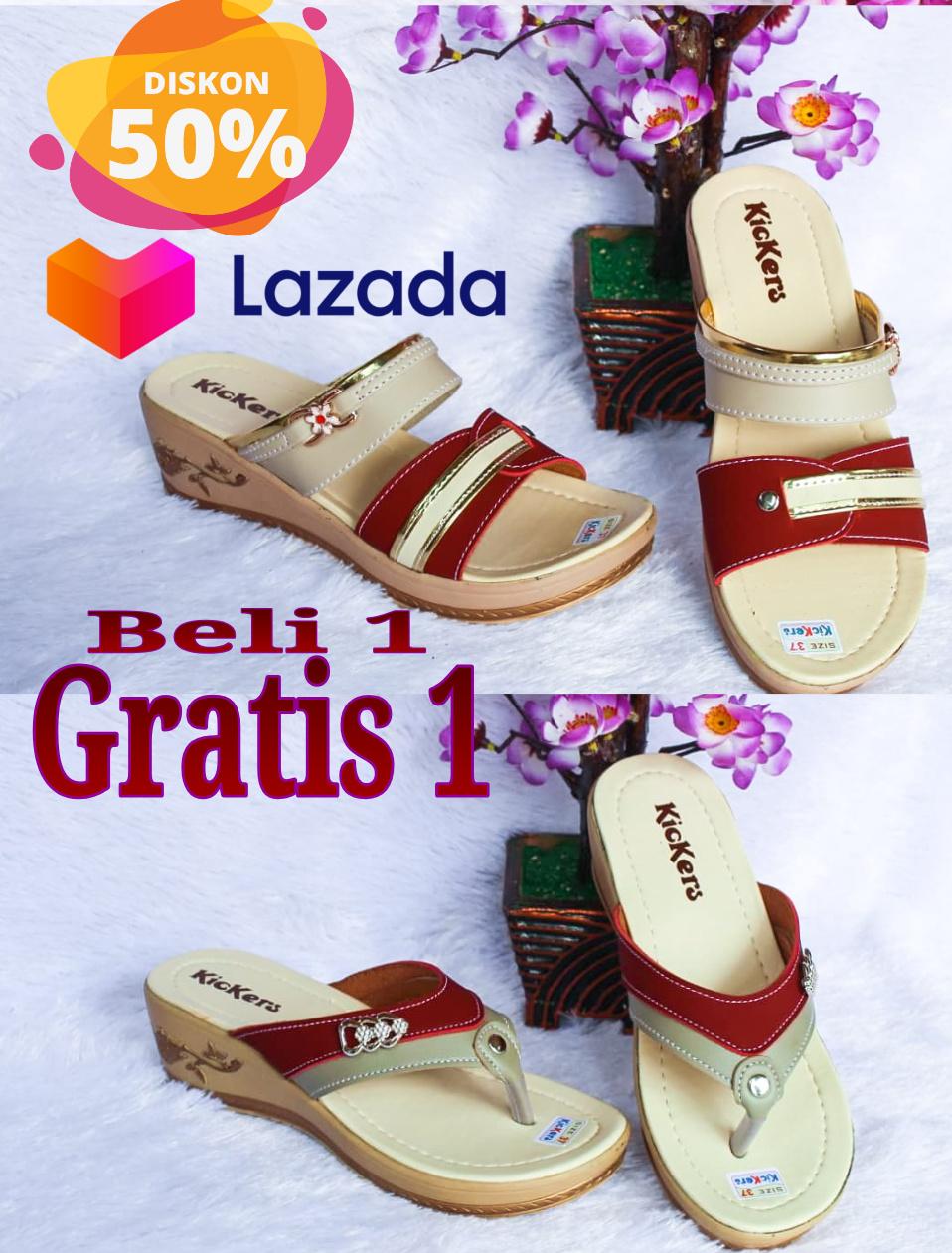 Harga Sandal Kickers Wanita Model Baru : harga, sandal, kickers, wanita, model, Gratis, Sandal, Selop, Wedges, Japit, Kickers, Wanita, Terbaru, Murah, Lazada, Indonesia