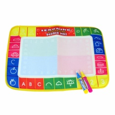 "45x29 Cm 4 Warna Language Rusia Air Menggambar Mat With 2 Pcs Magic Pen/Doodle Painting Rug Hadiah Bandung Photo: ""anak-anak-Intl"