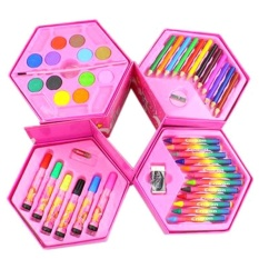 "46 Pcs Lukisan Children Alat Pena Warna Air Crayon Cat Air Powder Berwarna Pensil Set Hadiah Bandung Photo:"" Anak-anak-Intl"