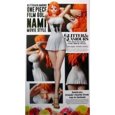 Action Figure One Piece Nami Film Gold Glitter Glamours - Gvxlit