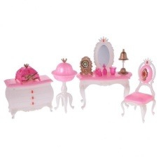 BolehDeals Luxury Plastic Furniture Play Set for Barbie Dolls House Dressing Room - intl