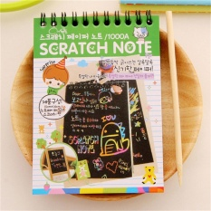 "DIY Cute Kawaii Notebook Hitam Halaman Magic Buku Gambar Lukisan Notepad Bandung Photo: ""Hijau-Intl"