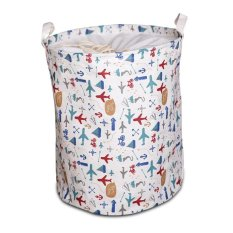 Debu Storage Barrel Laundry Basket Mainan Kotak Penyimpanan Pakaian Baru Cotton Linen Multi-function Handle-Color Plotter- INTL